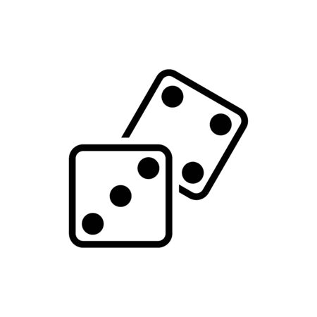 Dice icon flat vector template design trendy