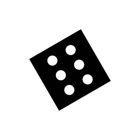 Dice icon flat vector template design trendy