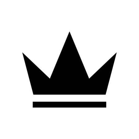 Crown icon flat vector template design trendy