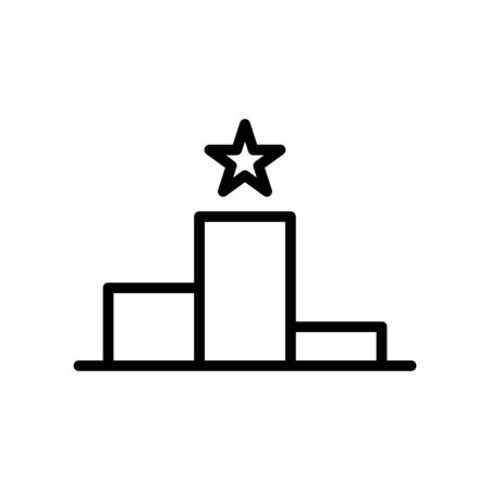 Podium rank icon flat vector template design trendy