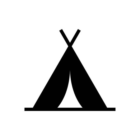 Tent icon flat vector template design trendy