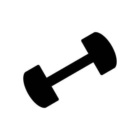 Barbells gym icon flat vector template design trendy