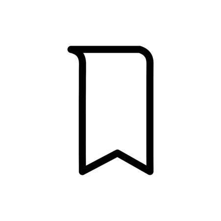 Bookmark icon flat vector template design trendy Vectores
