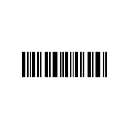 Bar code icon flat vector template design trendy