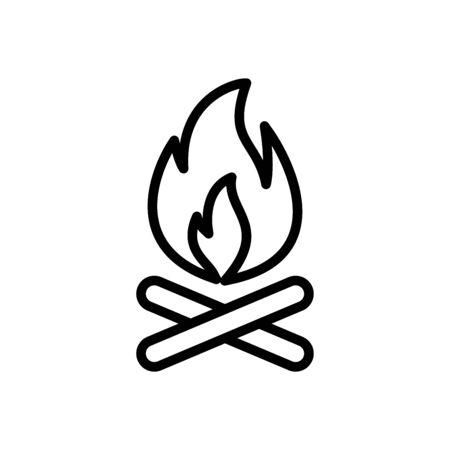 Bonfire icon flat vector template design trendy