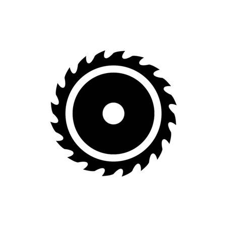 Saw blade icon flat vector template design trendy Vetores