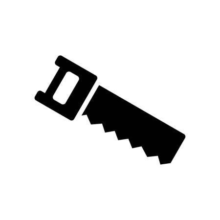 Hand saw icon flat vector template design trendy