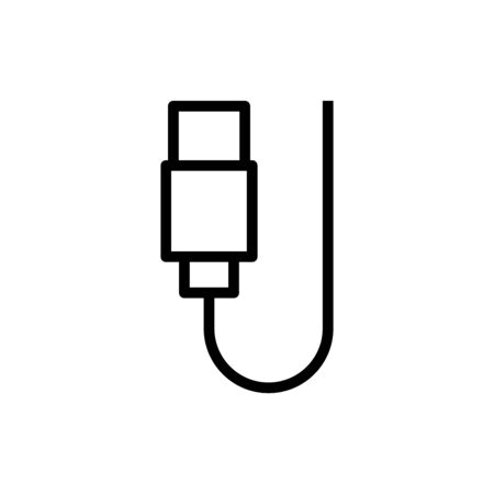 Cable icon flat vector template design trendy