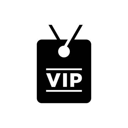 VIP card icon flat vector template design trendy Ilustrace
