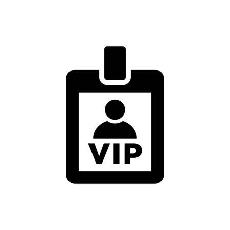 VIP card icon flat vector template design trendy