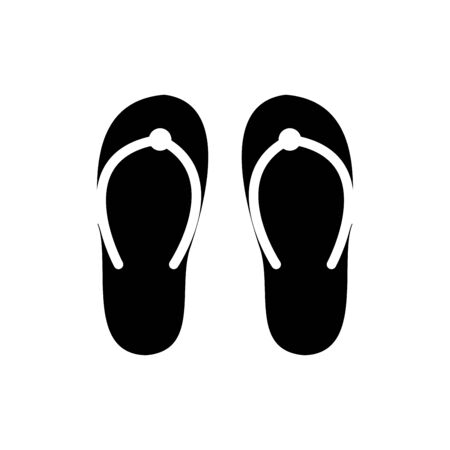 Slippers icon flat vector template design trendy