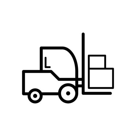 Forklift icon flat vector template design trendy