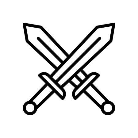 Sword icon flat vector template design trendy Çizim
