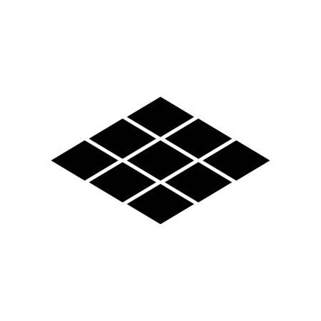 Floor tile icon flat vector template design trendy