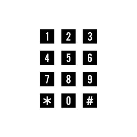Telephone icon flat vector template design trendy