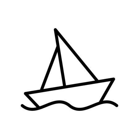 Yacht icon flat vector template design trendy