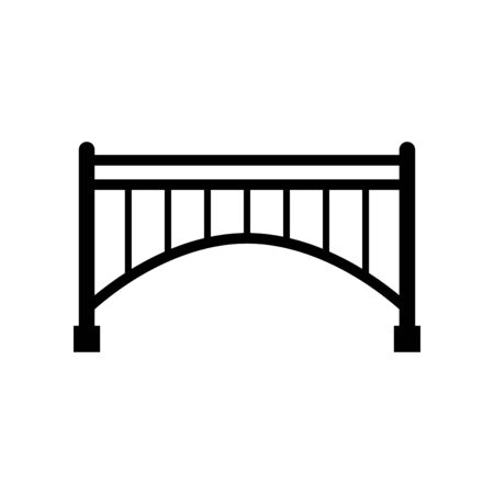 Bridge building icon vector illustration template design trendy