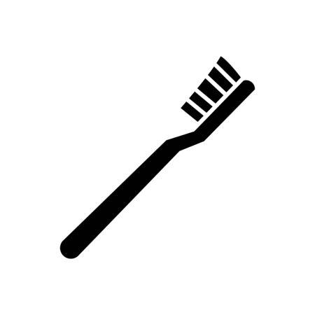 Toothbrush icon flat vector template design trendy