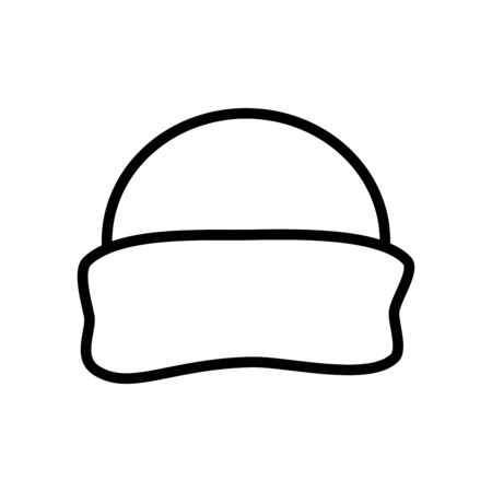 Winter wool hat icon flat vector template design trendy Illustration
