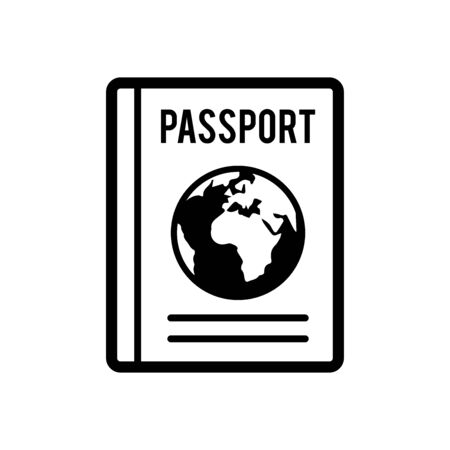 Passport icon flat vector template design trendy Ilustracja