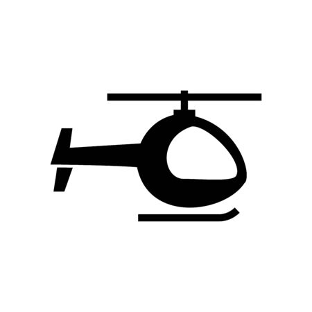 Helicopter icon flat vector template design trendy