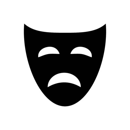 Mask icon flat vector template design trendy