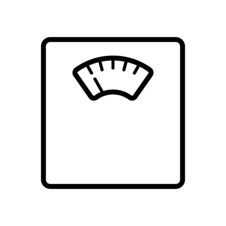 Floor scales icon flat vector template design trendy Vettoriali