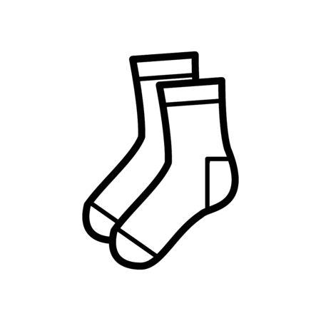 Socks icon flat vector template design trendy Vectores