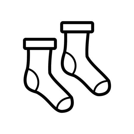 Socks icon flat vector template design trendy Vektorové ilustrace