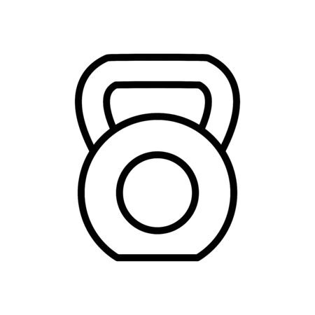 Kettle bell icon flat vector template design trendy Ilustrace
