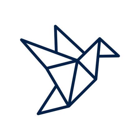 Origami icon logo company. isolated on white background.