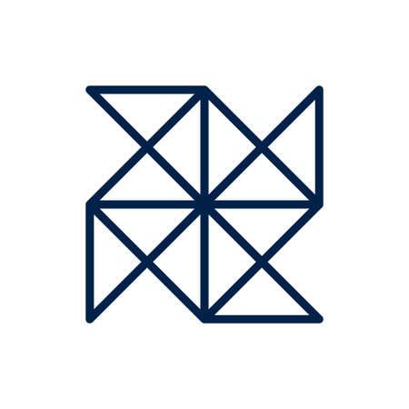 Origami icon logo company. isolated on white background. Logo
