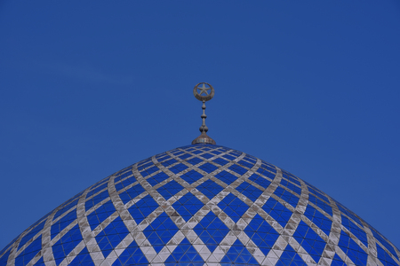 shah: The Beautiful Dome of the Sultan Salahuddin Abdul Aziz Shah Mosque is the state mosque of Selangor, Malaysia. It is known as Blue Mosque. It is located in Shah Alam and is Malaysias largest mosque