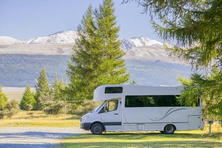 new zeland: Caravan travel at South Islands, New Zeland Stock Photo