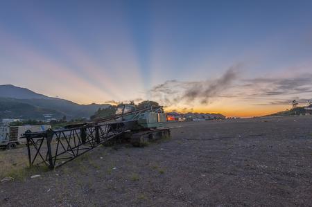 サバ、クンダサン村の日の出 写真素材 - 48543462