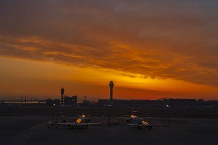明け方東京国際空港