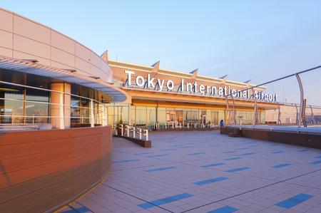 TOKYO, Japan - MAY 9, 2014; Haneda Airport