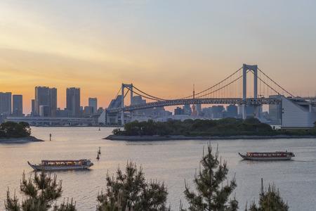 TOKYO, JAPAN;  Odaiba city in evening
