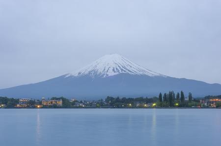 Mountain Fuji at lake Kawaguchiko 写真素材