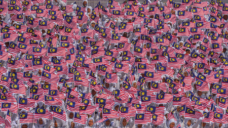 KUALA LUMPUR, MALAYSIA - 31st AUGUST 2016; Merdeka Day celebration is held in commemoration of Malaysia's Independence Day at Dataran Merdeka; one of the most colourful events celebrated annually.