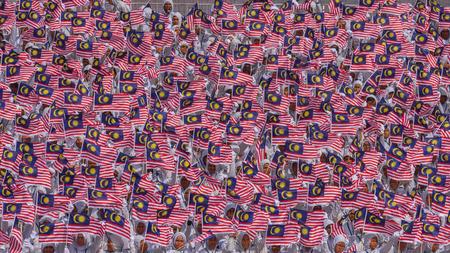 クアラルンプール、マレーシア 2016 年 8 月 31 日;ダタラン ・ ムルデカ; でマレーシアの独立記念日の記念のムルデカ日の祝賀会を開催します。最もカラフルなイベントの 1 つは毎年祝われます。 写真素材 - 65469628