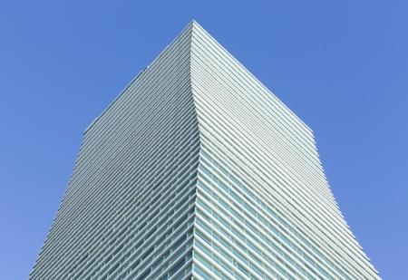 High skyscraper and blue sky Stock Photo