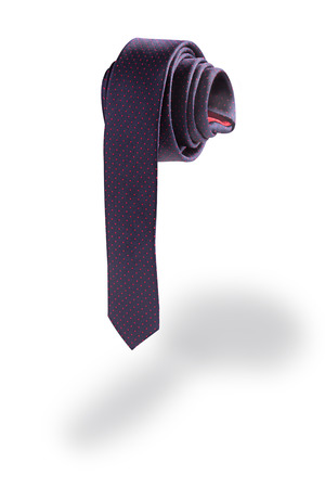 dysfunction: Necktie in isolated on white background
