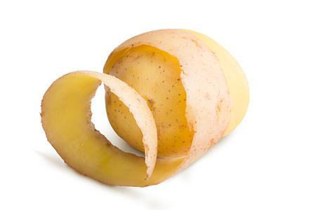 raw potato: Raw potato isolated on a white background
