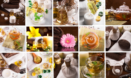 incienso: Collage de diferentes photoes de SPA