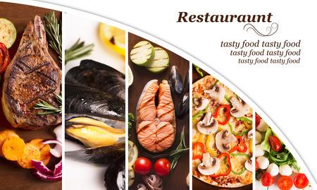 viandes et substituts: Collage de diff�rentes photos de nourriture (viande et substituts) Banque d'images