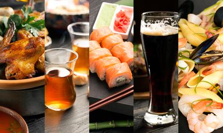 Collage van foto's van verschillende soorten natuurvoeding