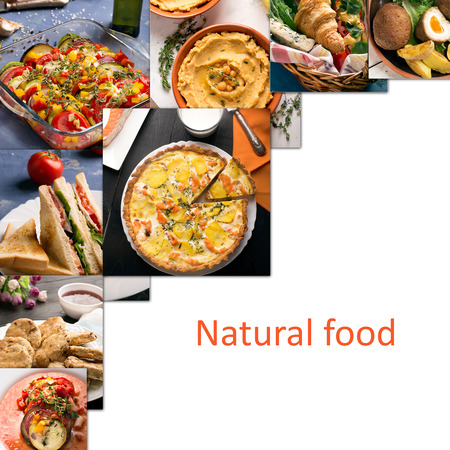 european food: Collage from photos of different european food
