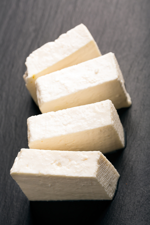 paneer: Traditional indian cheese panner (prepared form fresh milk) Stock Photo