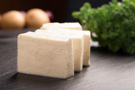 Traditional indian cheese panner (prepared form fresh milk) Stock Photo